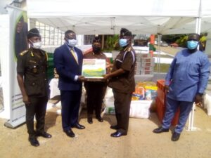 Commading Officer in charge of Senior Correctional Home receiving donation(s) from Kosmos Energy
