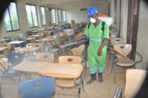 Disinfection of universities' classroom in Greater Accra Region