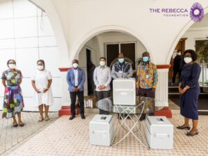 COVID-19 Fight: Rebecca Foundation and Nylex Company Donate to Noguchi & The Christian Health Association of Ghana