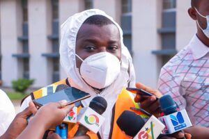 A Senior Vector Control Officer at the Vectorpes Department of Zoomlion, Mr. Abel Djangmah