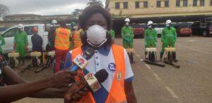 Mrs Esther Abayeta Asadoo, the Bono Regional Manager of Zoomlion Ghana Limited