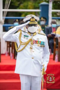 Outgoing Chief of Naval Staff, Rear Admiral Amoama