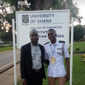Mr. Lartey with a uniformed Environmental Health Officer of Nigeria at the conference in 2019.
