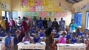 VMF donates learning desks to Asikam Presby Primary School